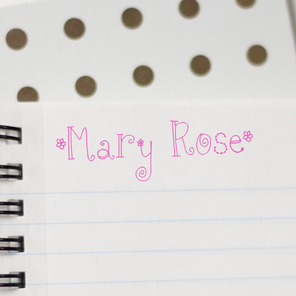 "Personalized Kids Name Stamp - ""Mary Rose"""