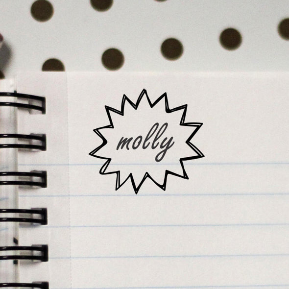 "Personalized Kids Name Stamp - ""Molly"""