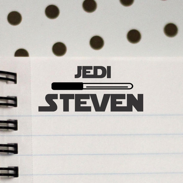 Personalized Kids Name Stamp Star Wars Jedi