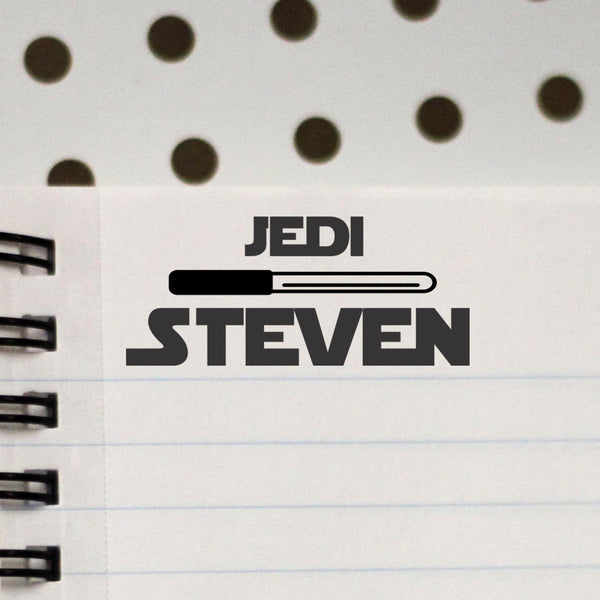 "Personalized Kids Name Stamp - Jedi ""Steven"""