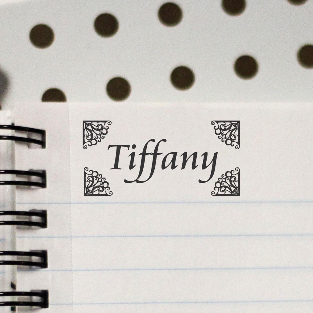 "Personalized Kids Name Stamp - ""Tiffany"" Borders"