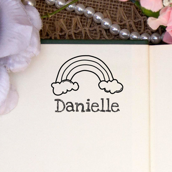 "Personalized Kids Name Stamp - ""Danielle"" Rainbow"