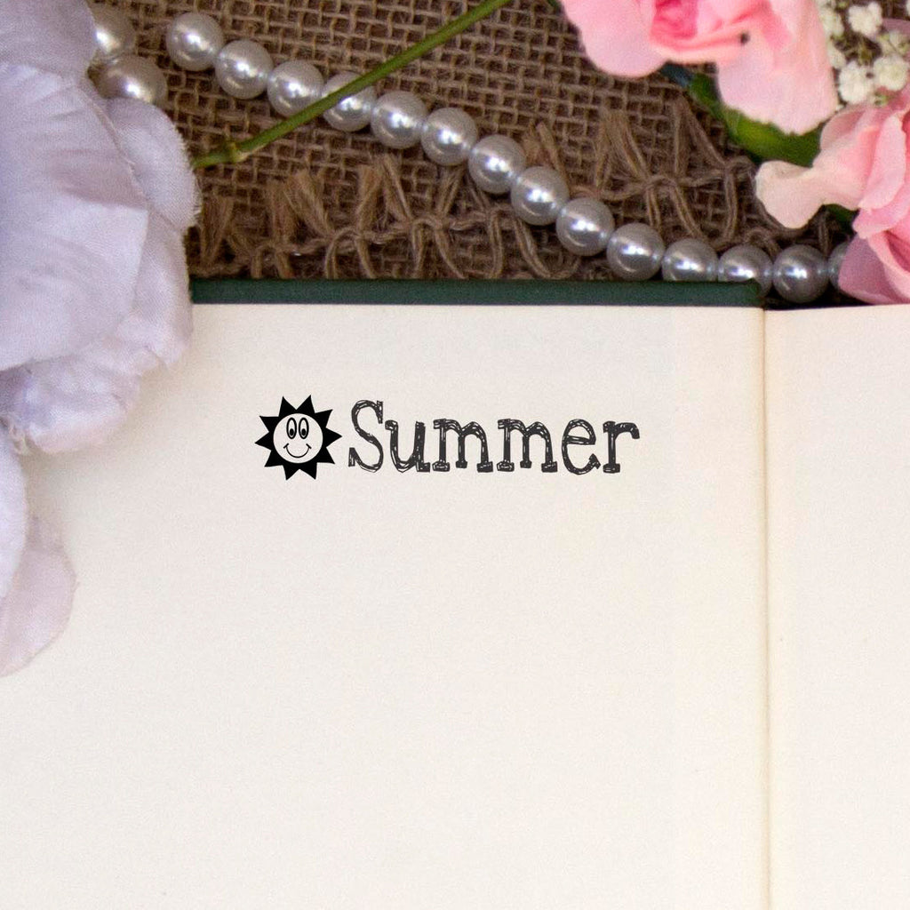 "Personalized Kids Name Stamp - ""Summer"" Sun"