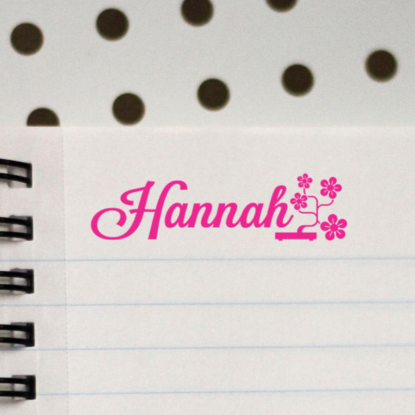 Personalized Kids Name Stamp with flowers