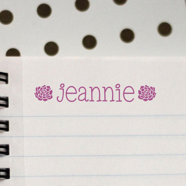 "Personalized Kids Name Stamp - ""Jeanie"" Succulents"