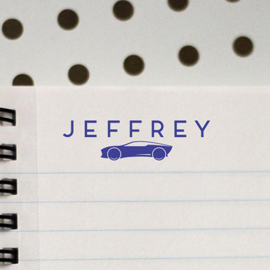 Personalized Kids Name Stamp Car