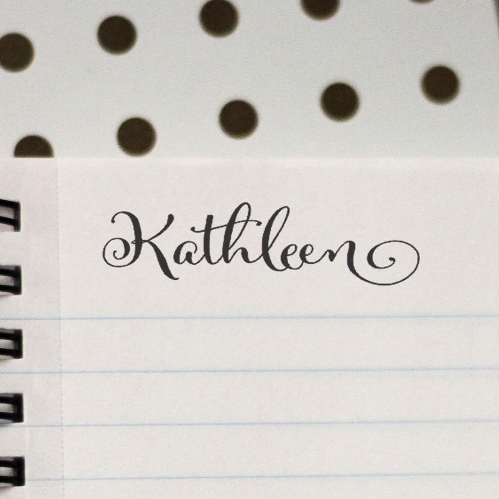 "Personalized Kids Name Stamp - ""Kathleen"""
