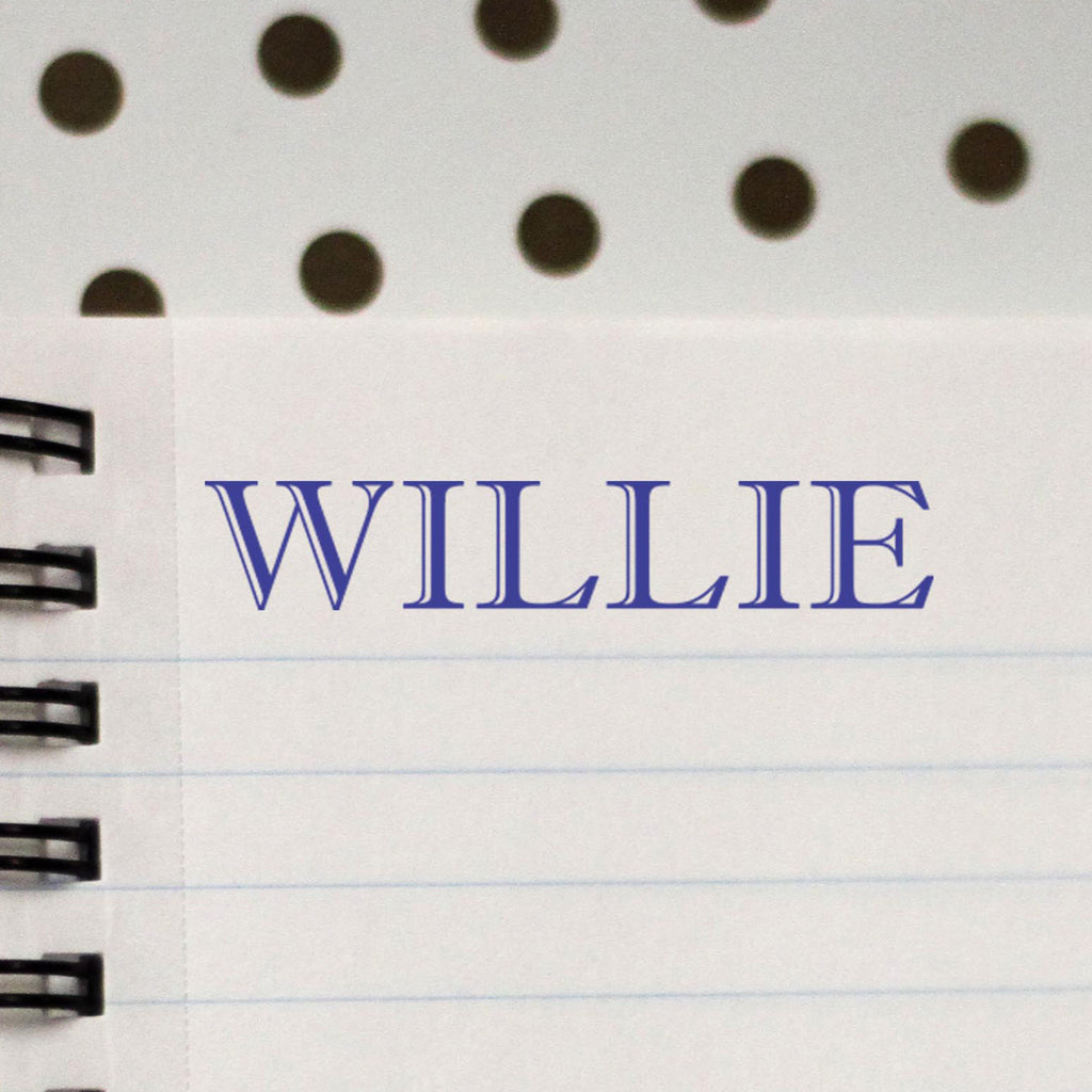 "Personalized Kids Name Stamp - ""Willie"""