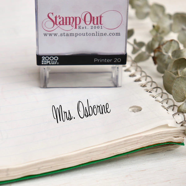 One line Teacher's Name Self Inking Stamp