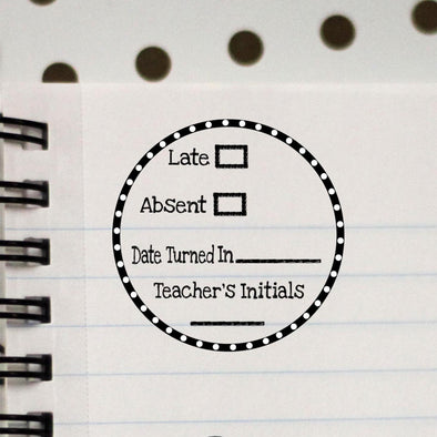 Late / Absent Teacher Stamp