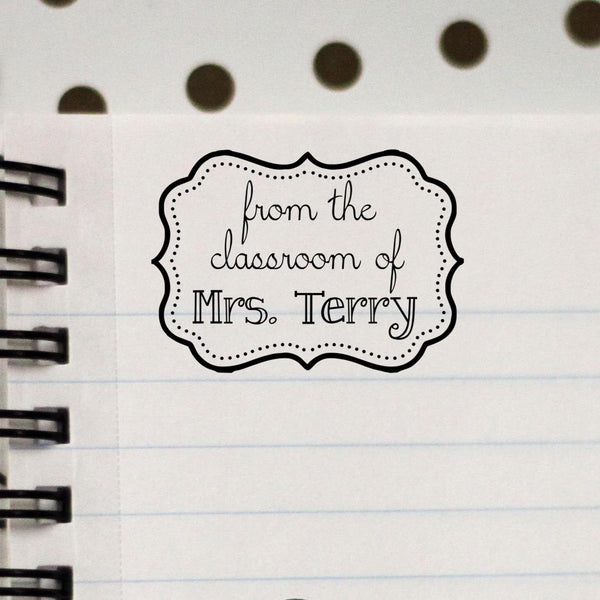 Personalized Teacher Stamp From The Class Room Of