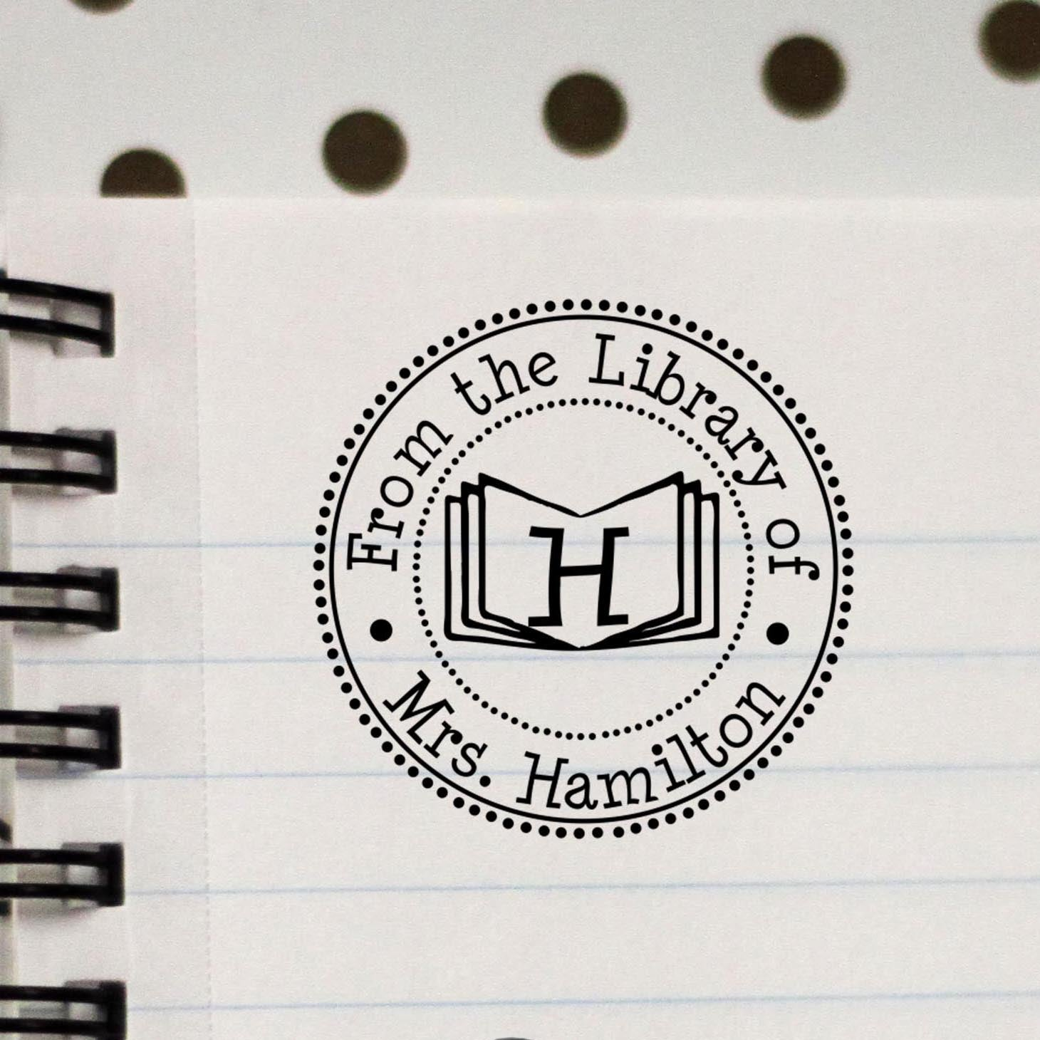 Personalized Library Stamp Out