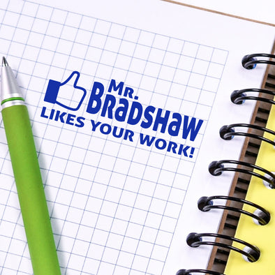 "Facebook Like Stamp, Custom Teacher Stamp, Personalized Teacher Stamp ""Mr Bradshaw"""