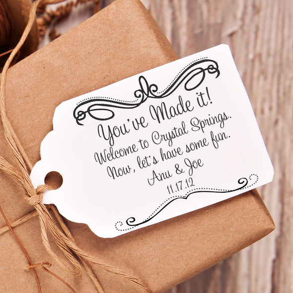 "Welcome Wedding ""You've Made it"" Wedding Favor Stamp"
