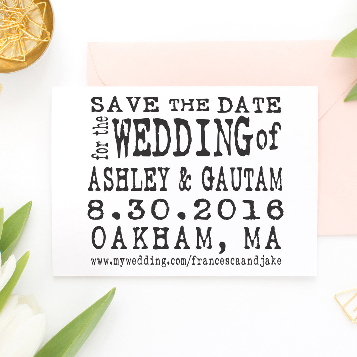 save the date stamp ashley gautam stamp out