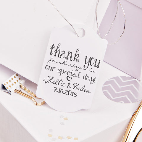 "Thank You ""Shellie Haden"" Wedding Favor Stamp"