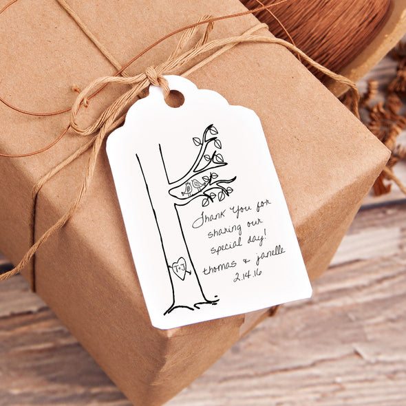 "Thanks for Sharing ""Thomas & Janelle"" Wedding Favor Stamp"