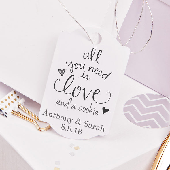 "Love & Cookies ""Anthony & Sarah"" Wedding Favor Stamp"