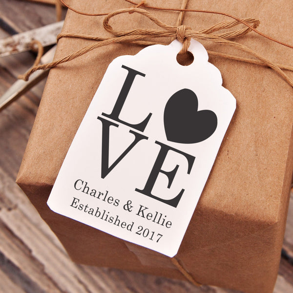 "LOVE ""Charles & Kellie"" Wedding Favor Stamp"