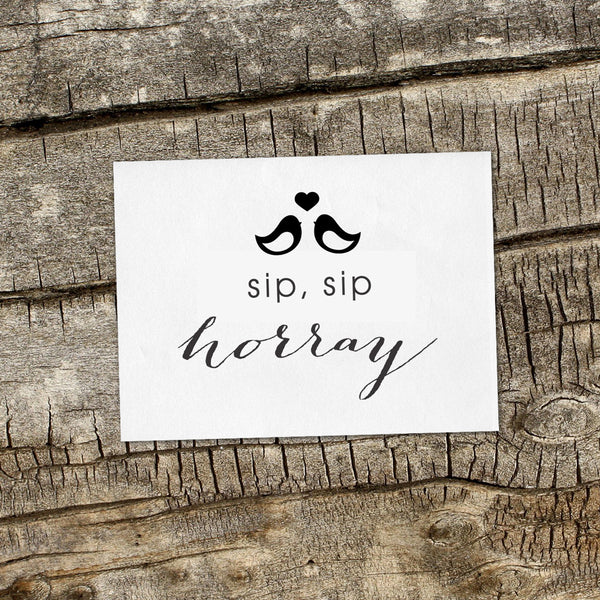 Sip, Sip Horray Wedding Favor Stamp