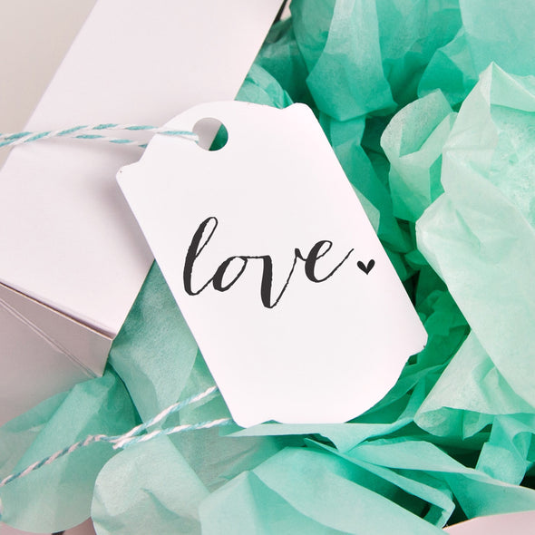 Love with Heart Wedding Favor Stamp