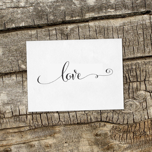 Love with Swirl Wedding Favor Stamp