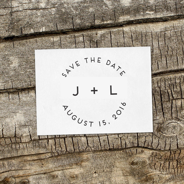 "Save the Date Stamp ""J+L"""
