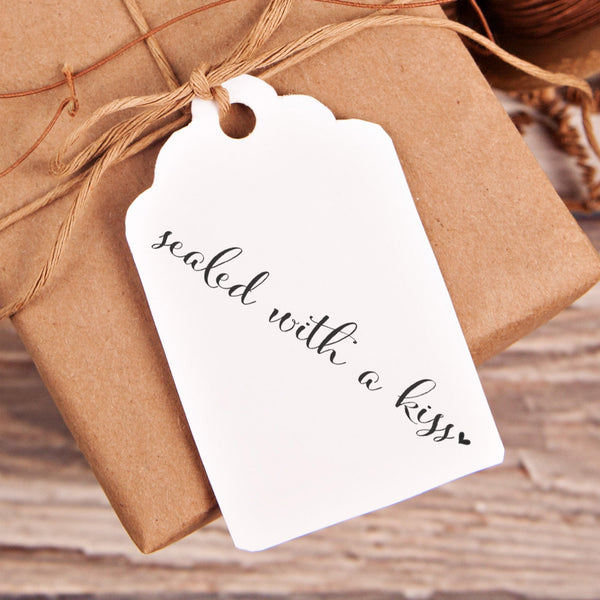 Sealed with a Kiss Wedding Favor Stamp