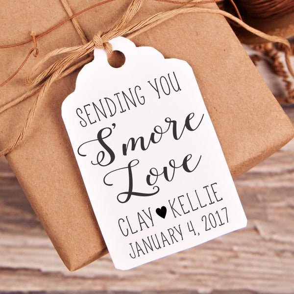 S'more Love Wedding Favor Stamp