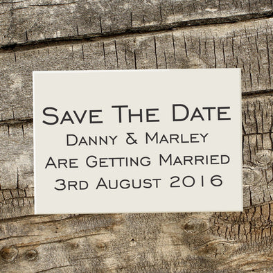 "Save the Date Stamp ""Danny & Marley"""