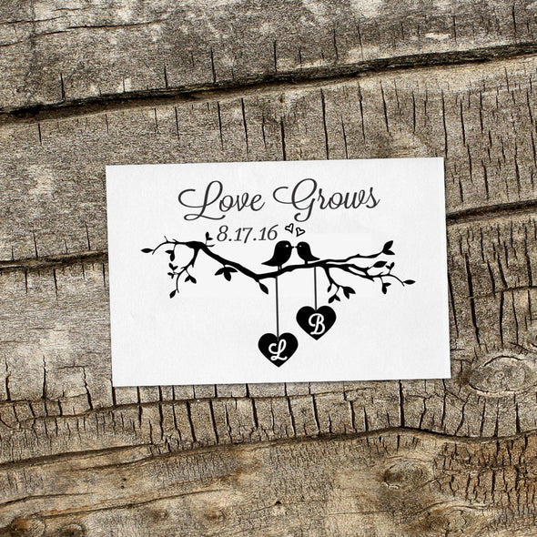 "Save the Date Stamp ""Love Grows"""