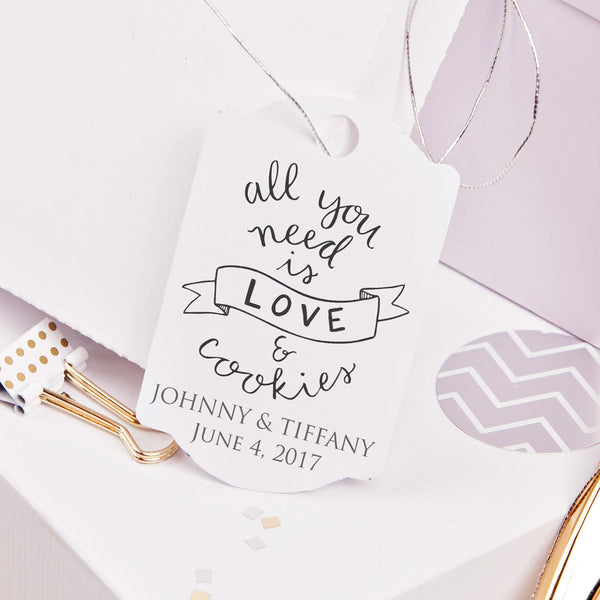 "Love & Cookies ""Johnny & Tiffany"" Wedding Favor Stamp"