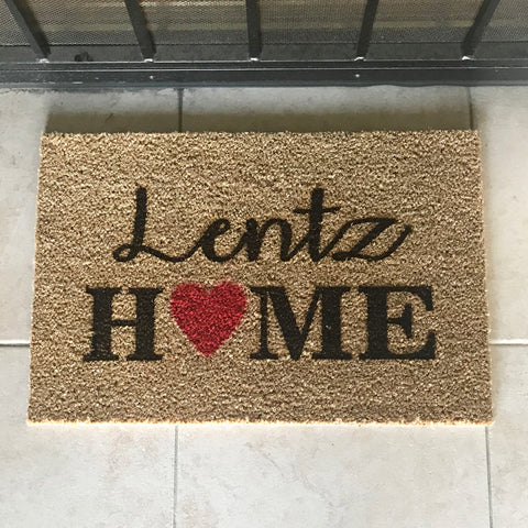 Personalized Last Name Home Mat