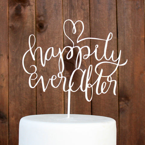 "Cake Topper ""Happily Ever After"""