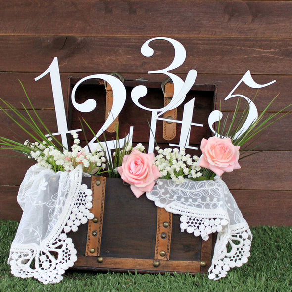 "Wedding Wood Cut Outs ""Table Numbers"""