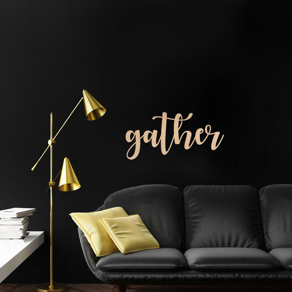 "Cut Out Word Sign, ""Gather"""