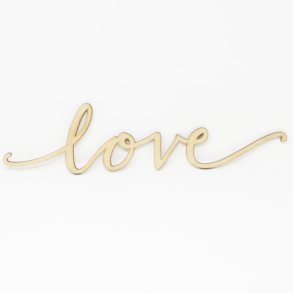 "Cut Out Word Sign, ""Love"""