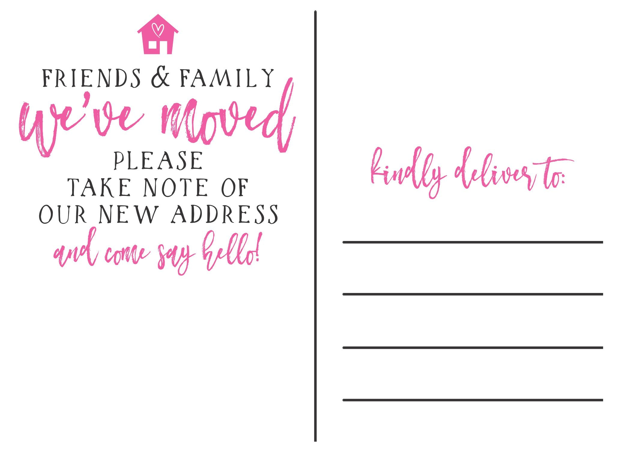 we ve moved cards friends family stamp out
