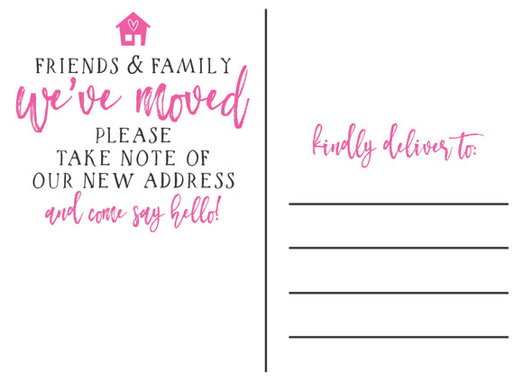 "We've Moved Cards - ""Friends & Family"""