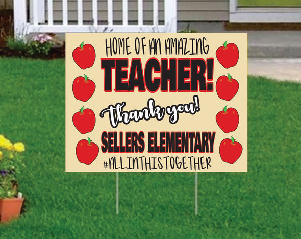 teacher yard sign