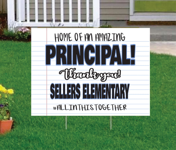 Principal Yard Signs Chalkboard Teacher Appreciation Yard Sign