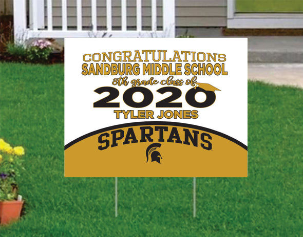 Sandburg middle school Yard Sign Sandburg Class of 2020