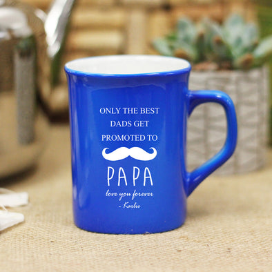 Promoted to Papa, Mustache, Ceramic Mug