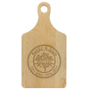 "Paddle Cutting Board ""Mandy & Adam"" English Tree"