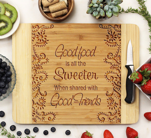"Cutting Board ""Good Food"""