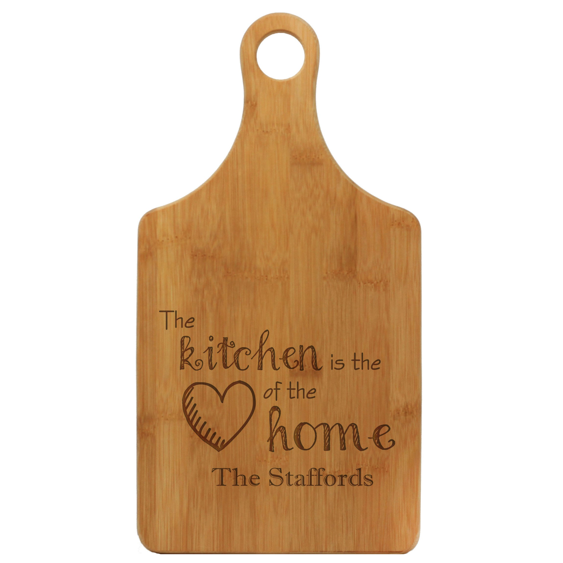 Paddle Cutting Board The Kitchen Is The Heart Of The Home The
