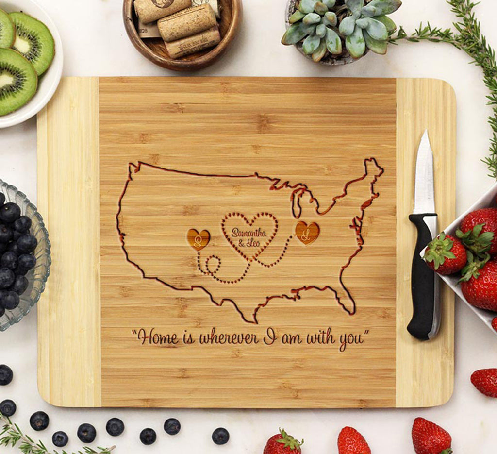 "Cutting Board ""United States Map"""