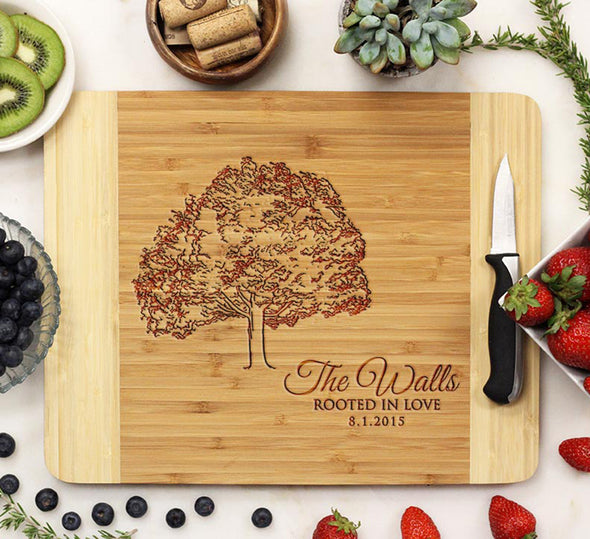 "Cutting Board ""Rooted in Love - The Walls"""