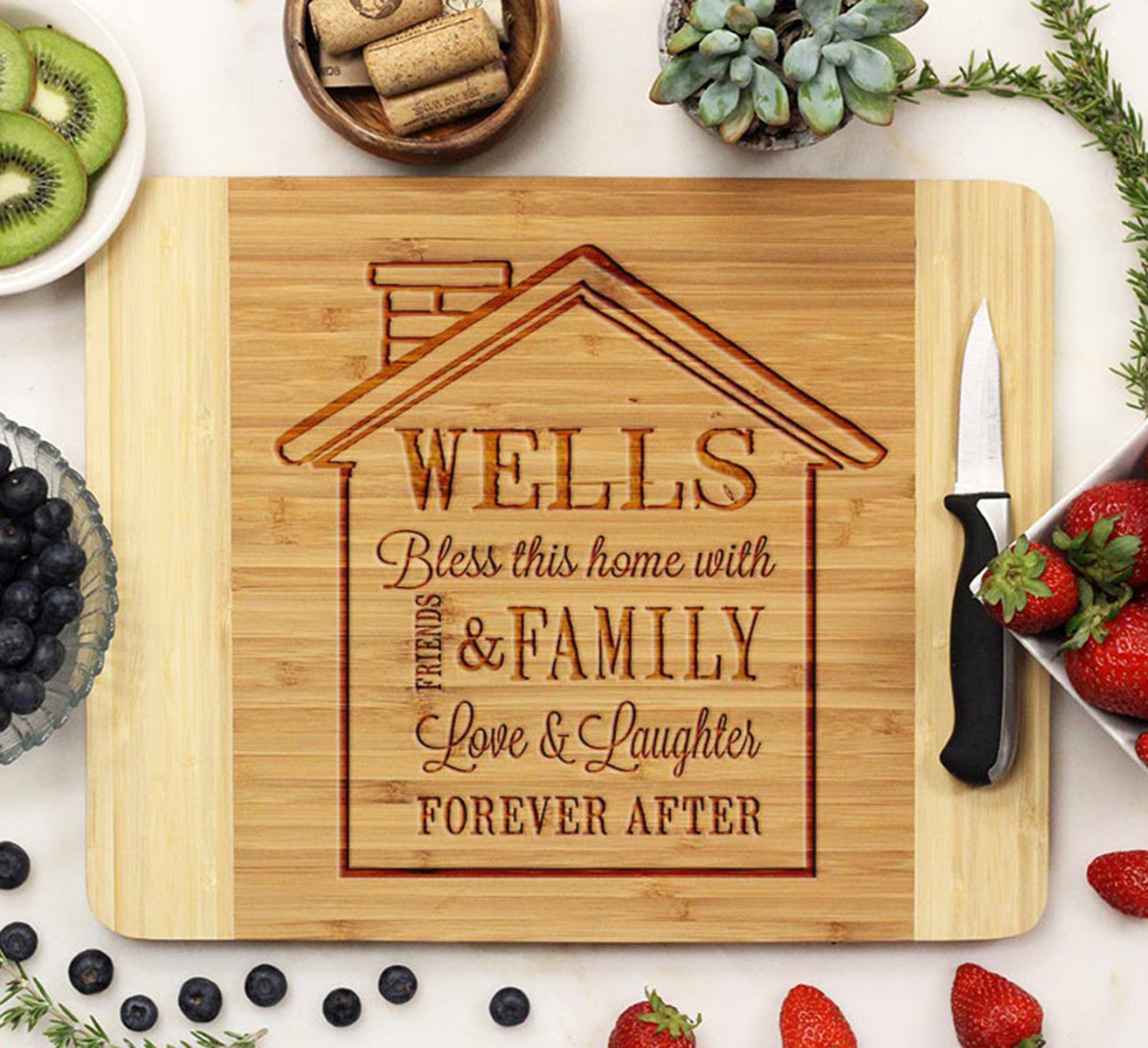 Cutting Board Wells House Design Stamp Out