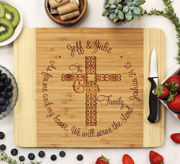 "Cutting Board ""Cartwrights Family - We Serve the Lord"""